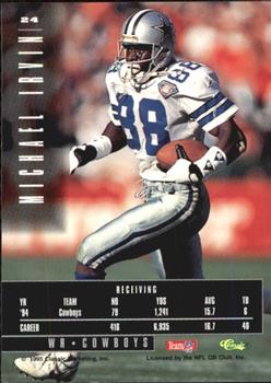 1995 Classic Images Limited #24 Michael Irvin Back