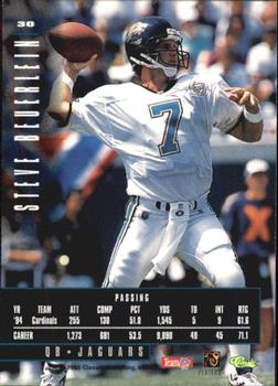 1995 Classic Images Limited #30 Steve Beuerlein Back