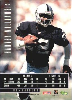 1995 Classic Images Limited #60 Harvey Williams Back