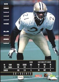 1995 Classic Images Limited #69 Eric Allen Back