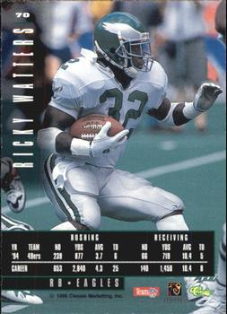 1995 Classic Images Limited #70 Ricky Watters Back