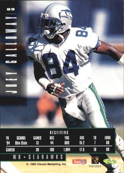 1995 Classic Images Limited #89 Joey Galloway Back