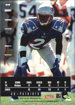 1995 Classic Images Limited #99 Ty Law Back
