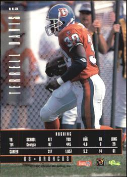 1995 Classic Images Limited #113 Terrell Davis Back
