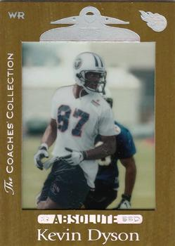 bfb701e121e 1999 Playoff Absolute SSD - Coaches Collection Silver #107 Kevin Dyson Front