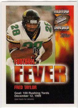 1999 Topps Season Opener - Football Fever #NNO Fred Taylor Front