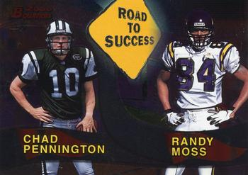 2000 Bowman - Road to Success #R1 Chad Pennington / Randy Moss Front