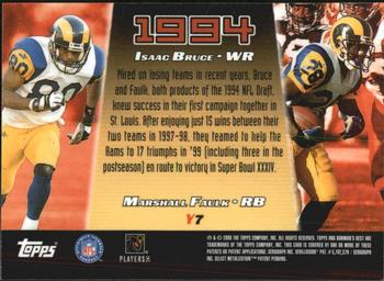 2000 Bowman's Best - Year by Year #Y7 Isaac Bruce / Marshall Faulk Back