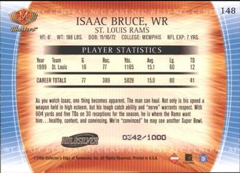 2000 Collector's Edge Masters - HoloSilver #148 Isaac Bruce Back