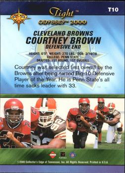 2000 Collector's Edge Odyssey - Tight #T10 Courtney Brown Back