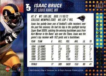 2000 Collector's Edge T3 - HoloPlatinum #110 Isaac Bruce Back