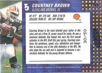 2000 Collector's Edge T3 - HoloRed #166 Courtney Brown Back