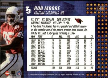 2000 Collector's Edge T3 - Retail #2 Rob Moore Back