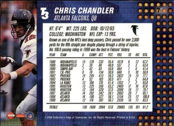 2000 Collector's Edge T3 - Retail #7 Chris Chandler Back