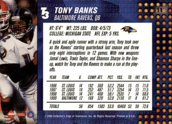 2000 Collector's Edge T3 - Retail #11 Tony Banks Back