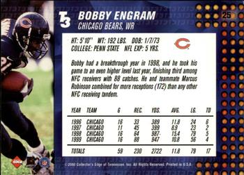 2000 Collector's Edge T3 - Retail #25 Bobby Engram Back