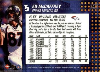 2000 Collector's Edge T3 - Retail #44 Ed McCaffrey Back