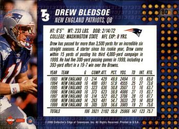 2000 Collector's Edge T3 - Retail #80 Drew Bledsoe Back