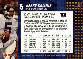 2000 Collector's Edge T3 - Retail #88 Kerry Collins Back