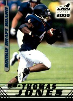 2000 Pacific Aurora - Rookie Draft Board #1 Thomas Jones Front