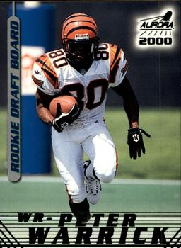 2000 Pacific Aurora - Rookie Draft Board #5 Peter Warrick Front