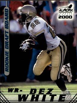 2000 Pacific Aurora - Rookie Draft Board #6 Dez White Front