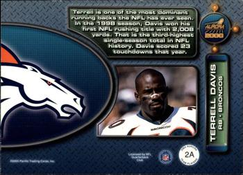 2000 Pacific Aurora - Team Players #2a Terrell Davis Back