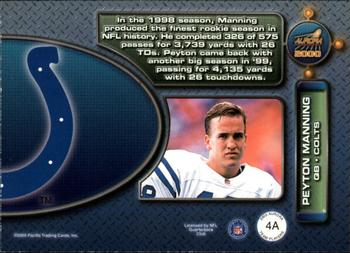 2000 Pacific Aurora - Team Players #4a Peyton Manning Back