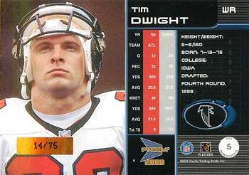 2000 Pacific Prism Prospects - Holographic Mirror #5 Tim Dwight Back