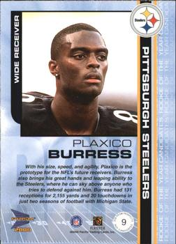 2000 Pacific Prism Prospects - ROY Candidates #9 Plaxico Burress Back