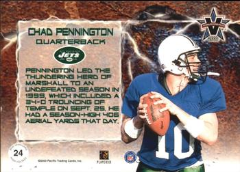 2000 Pacific Vanguard - High Voltage Green #24 Chad Pennington Back