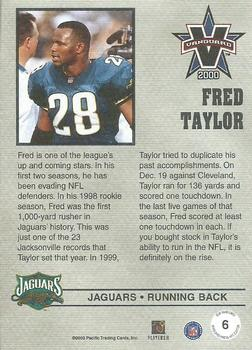 2000 Pacific Vanguard - Press Hobby #6 Fred Taylor Back
