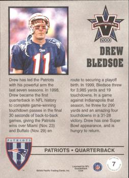 2000 Pacific Vanguard - Press Hobby #7 Drew Bledsoe Back