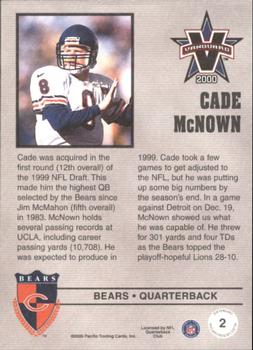 2000 Pacific Vanguard - Press Retail #2 Cade McNown Back