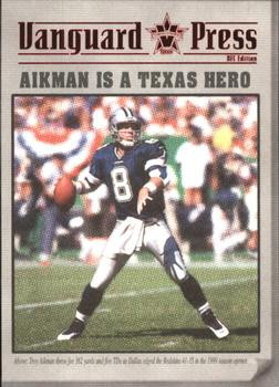 2000 Pacific Vanguard - Press Retail #3 Troy Aikman Front