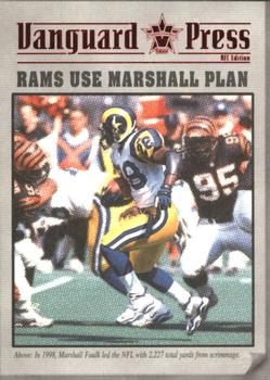 2000 Pacific Vanguard - Press Retail #8 Marshall Faulk Front