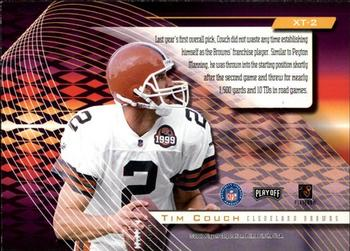 2000 Playoff Absolute - Extreme Team #XT2 Tim Couch Back