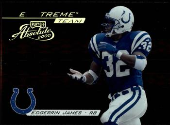 2000 Playoff Absolute - Extreme Team #XT6 Edgerrin James Front