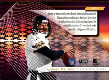 2000 Playoff Absolute - Extreme Team #XT7 Mark Brunell Back