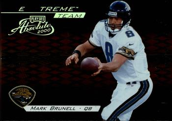 2000 Playoff Absolute - Extreme Team #XT7 Mark Brunell Front
