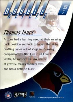 2000 Playoff Absolute - Rookie Reflex #RR3 Thomas Jones Back