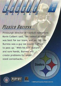 2000 Playoff Absolute - Rookie Reflex #RR4 Plaxico Burress Back
