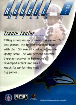 2000 Playoff Absolute - Rookie Reflex #RR5 Travis Taylor Back