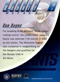2000 Playoff Absolute - Rookie Reflex #RR6 Ron Dayne Back