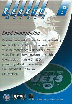2000 Playoff Absolute - Rookie Reflex #RR8 Chad Pennington Back