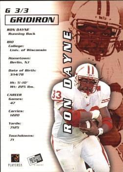 2000 Press Pass - Gridiron #3 Ron Dayne Back