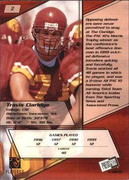 2000 Press Pass - Torquers #2 Travis Claridge Back