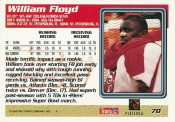 1995 Topps #70 William Floyd Back