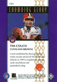 2000 Upper Deck Ultimate Victory - Crowning Glory #CG4 Tim Couch Back