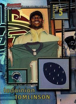 2001 Bowman Chrome - Draft Day Relics #DJ-LT LaDainian Tomlinson Front